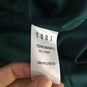 Tobi Dresses - Tobi Treasure Me Emerald Ruffle Maxi Dress